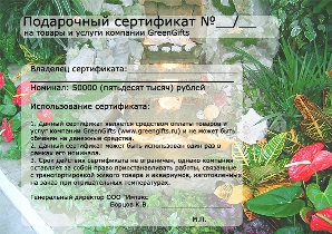 подарочный сертификат на озеленение